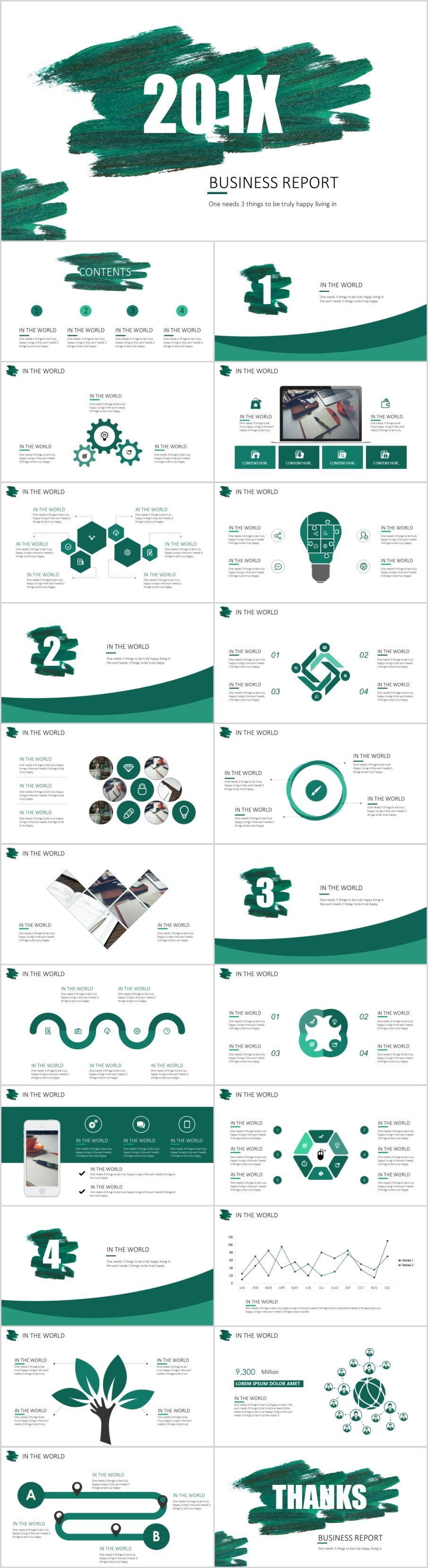 23 best green business report PowerPoint templatesThe highest quality PowerPoint Templates and Keynote Templates download