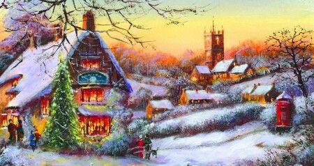 Beautiful Christmas Scene.