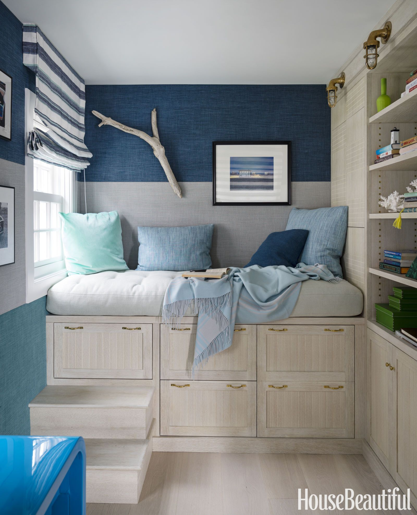This Tiny Coastal Cottage Literally Sits On Top Of The Water Tiny Bedroom Design Tiny Bedroom Tiny House Storage