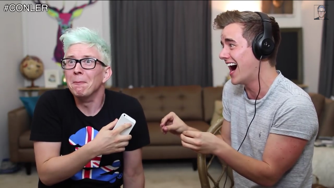 Tyler and Connor. Haha haha their faces!!!!! I'm dying!!!!!;