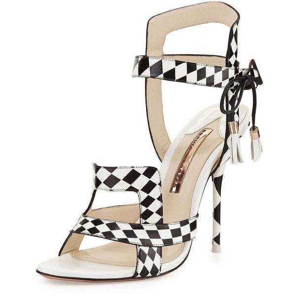 37a25841e9b Sophia Webster Poppy Checkered Leather Sandal ( 680) ❤ liked on Polyvore  featuring shoes