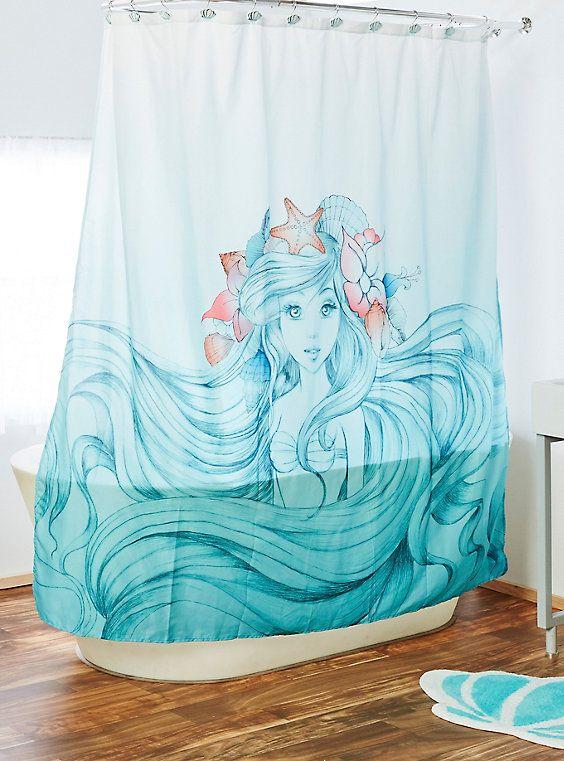 Disney The Little Mermaid Shower Curtain Mermaid Bathroom Decor