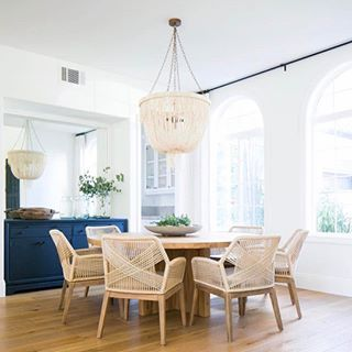 """Hey hey! It's been a few days of catching up on life over here. I'm sourcing as fast as my fingers can click - I love it! Right now I am sourcing statement dining chairs for a few clients and thought I would share some current favorites, like these beauties in this perfect dining room by @beckiowens. // Shop my favorite dining chairs right here: http://liketk.it/2qtZL or on the blog under """"shop our Instagram"""" // @liketoknow.it #liketkit #ltkhome"""