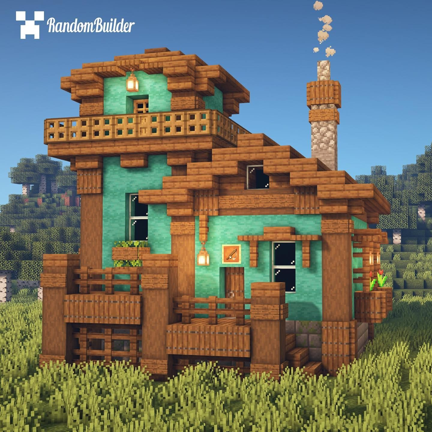 Fisherman U2019s Store Using 1 16 Blocks  Ud83d Udc1f Follow  Randombuildermc For More  Minecraft Content