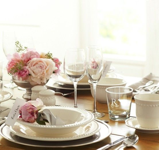 Emma a simple and sweet place settings from pottery barn we wedding registry bridal registry gift registry pottery barn junglespirit Choice Image