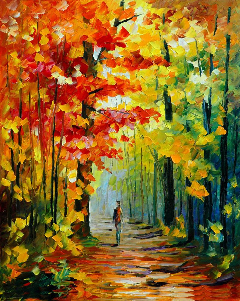 Framed Acrylic Paint by Number kit 50x40cm (20x16'') Beautiful Autumn DIY LG7181