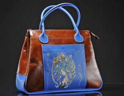 Женские сумки ручной работы. Ярмарка Мастеров - ручная работа. Купить Саквояж. Handmade. Рисунок, саквояж кожаный