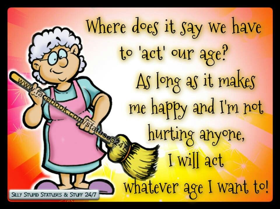 Hahahaha! Yep and I started redefining success after 50