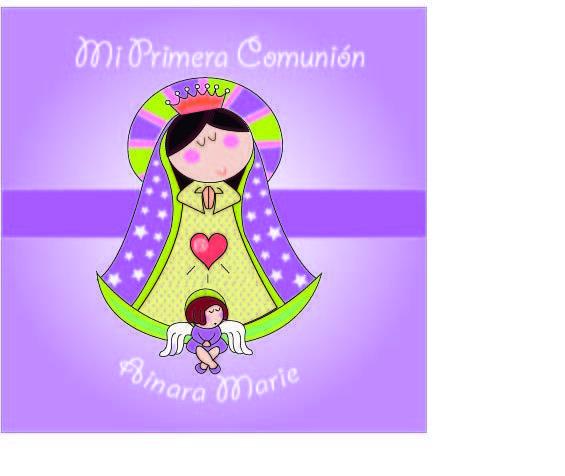 invitaciones de primera comunion virgencita plis