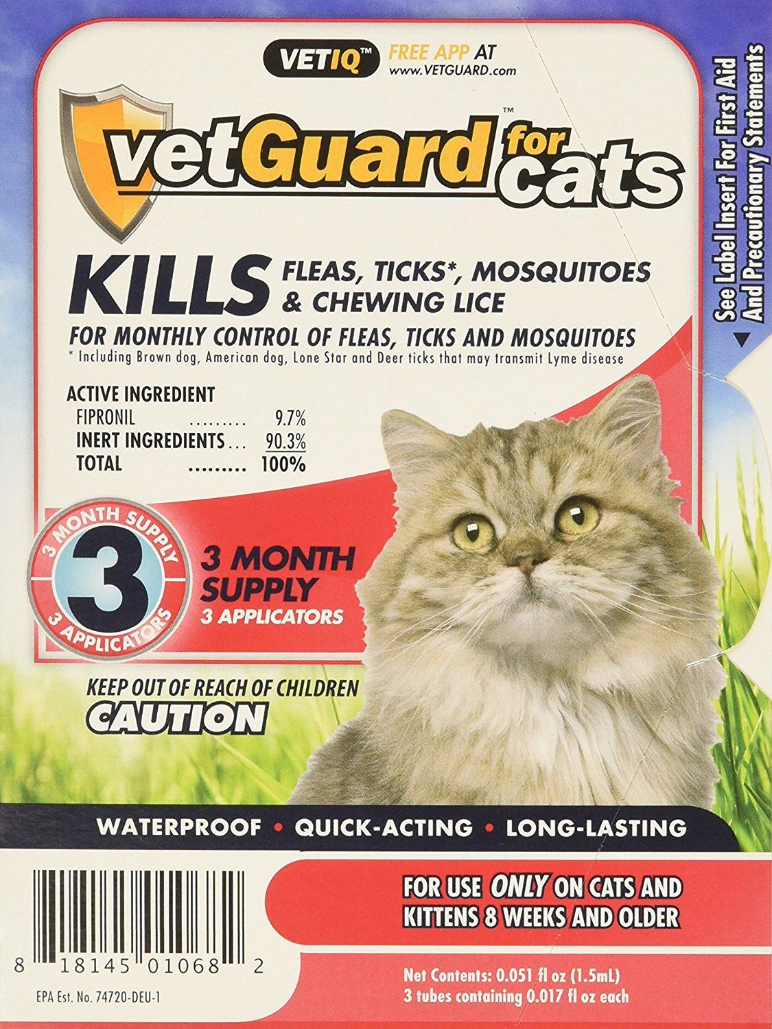 VetGuard Plus Flea and Tick Drops for Cats, All Sizes