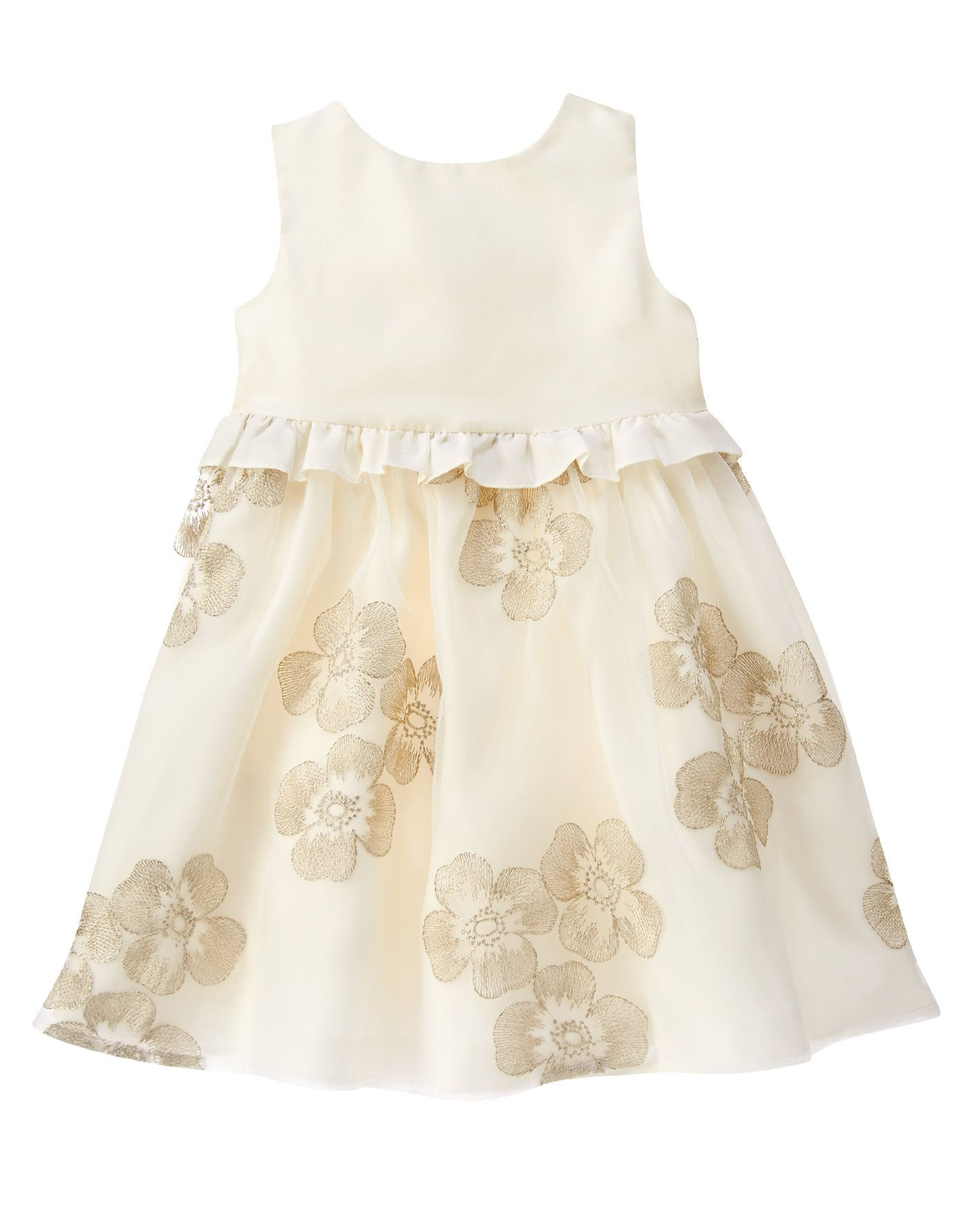 a6bb37e4f1 Floral Embroidered Dress at Gymboree Toddler Fashion