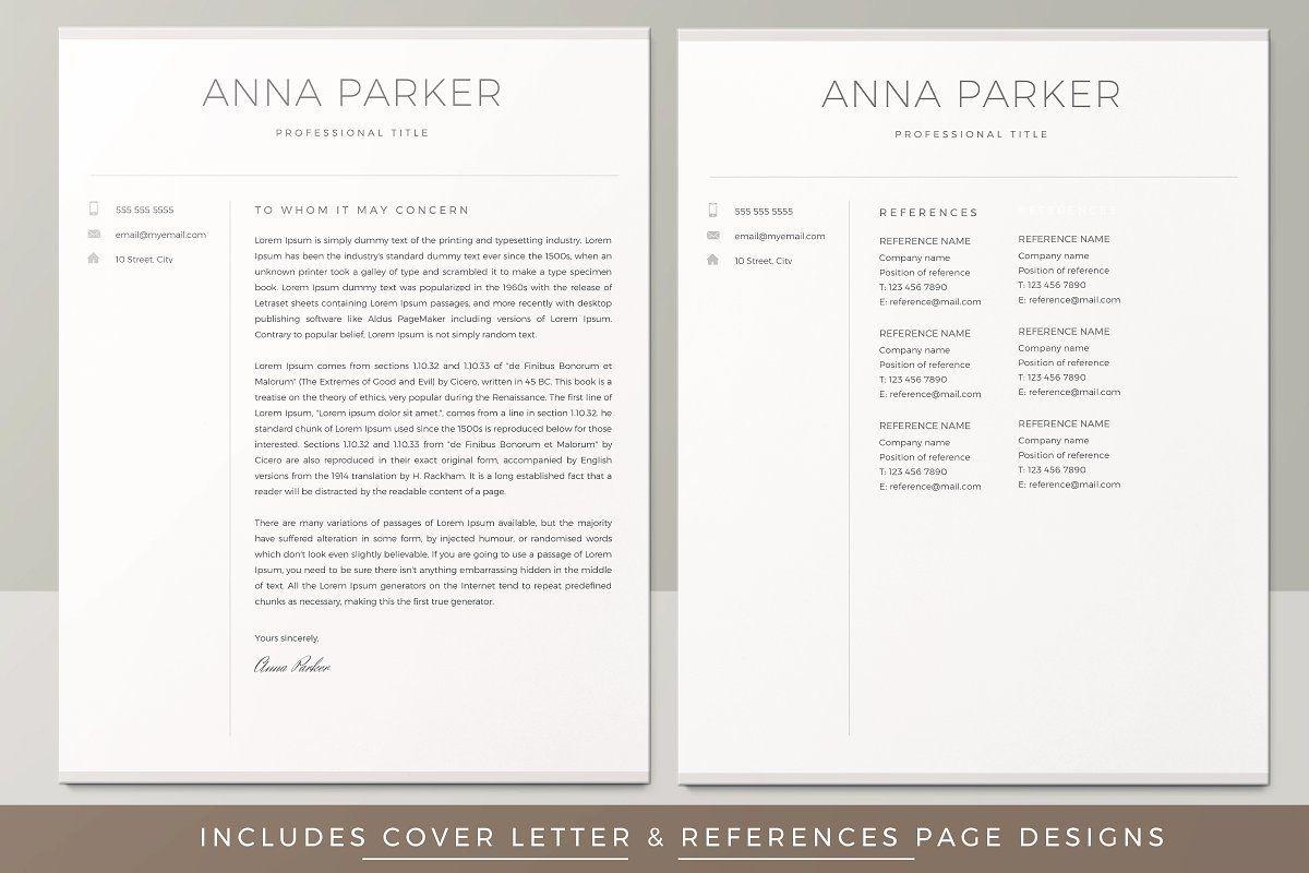 Resume Template / CV Modern resume template, Creative