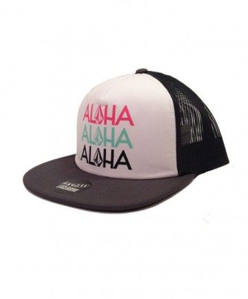 477e88623e6606 Women's Volcom Trucker Hat - Aloha Hawaii; Color Options: Black and White.  $19.50. Available online at islandsnow.com and at the Island Snow Hawaii  Kailua ...