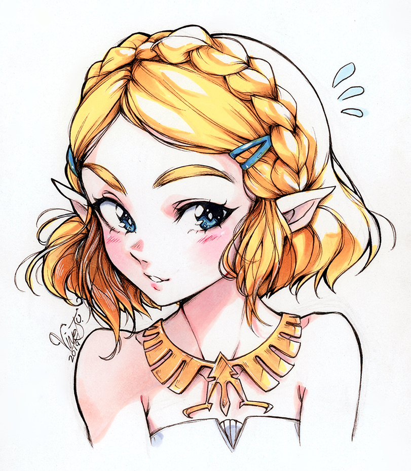 Zelda Short Hair By Belivinetsu On Deviantart Zelda Drawing Legend Of Zelda Memes Zelda Art