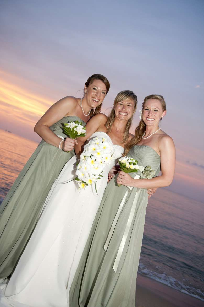 Sophisticated And Elegant Sage Green Bridesmaid Dresses Beach Weddings Koh Samui Thailand