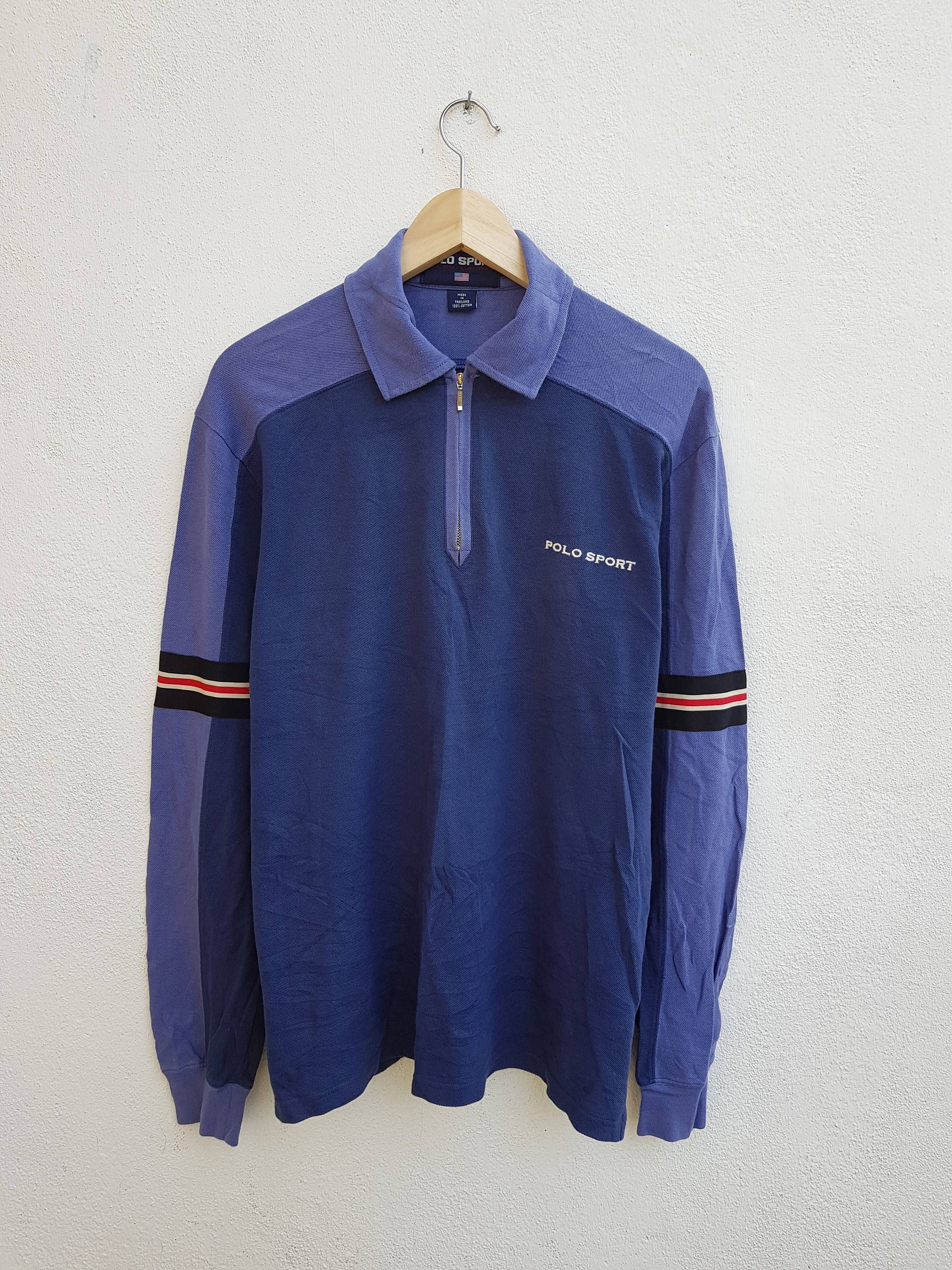 b9ae78b7 Vintage 90s Polo Sport Ralph Lauren Long Sleeve Stripes Color Block  Embroidered Logo Polos Zip Casual Shirt Size S Adult by BubaGumpBudu on Etsy
