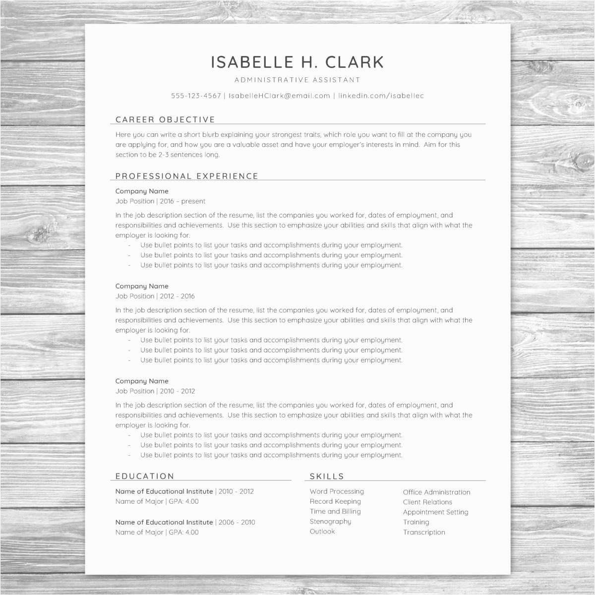 H1b Premium Processing Resume New Paralegal Job