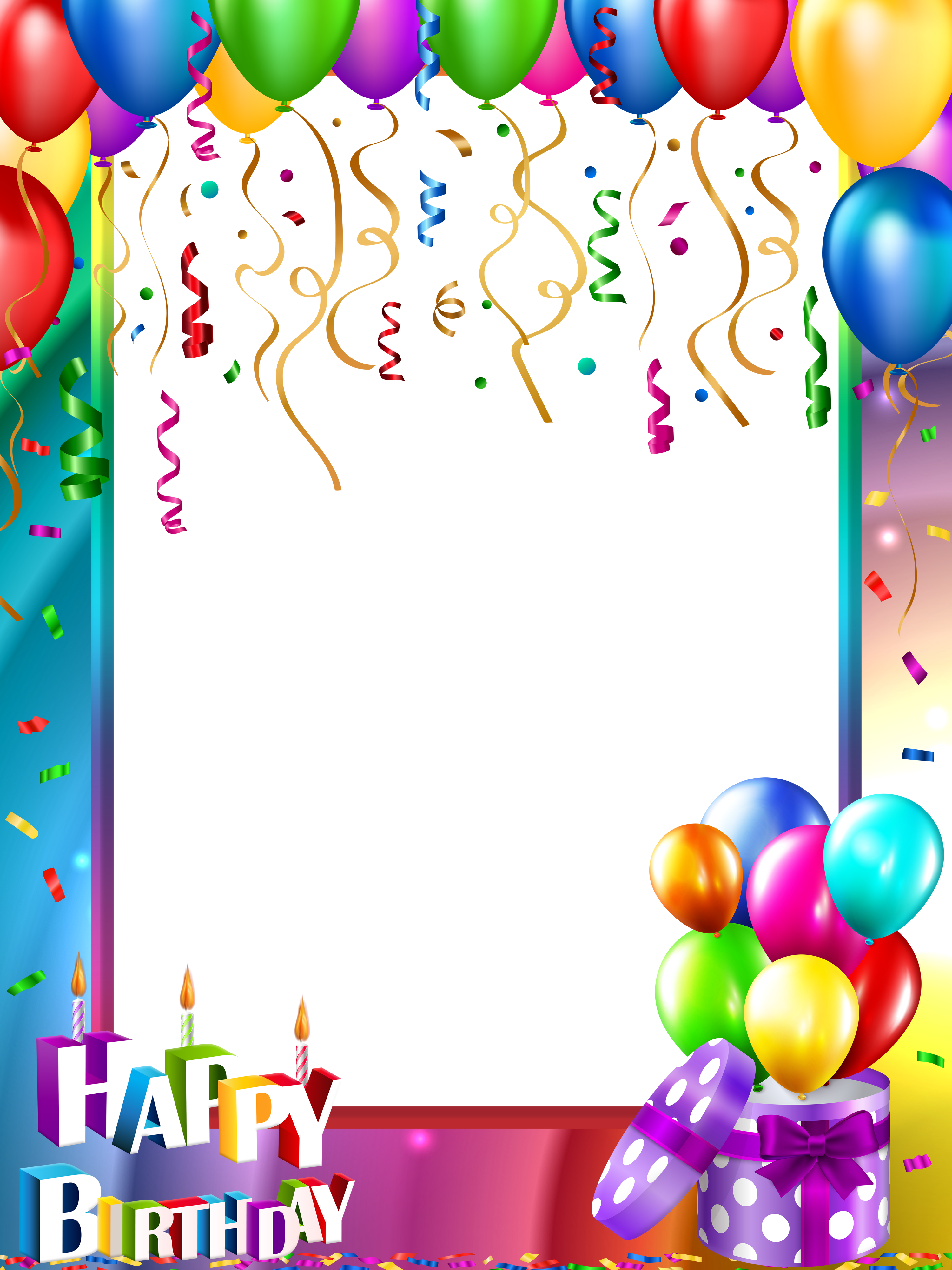 Happy Birthday PNG Transparent Frame | Gallery Yopriceville - High ...