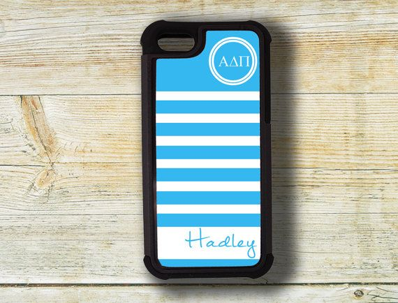 Alpha Delta Pi Iphone case iPhone 4/4s/5/5s  by #PreppyCentral #alphadeltapi #iphonecase #monogrammedgreekgift