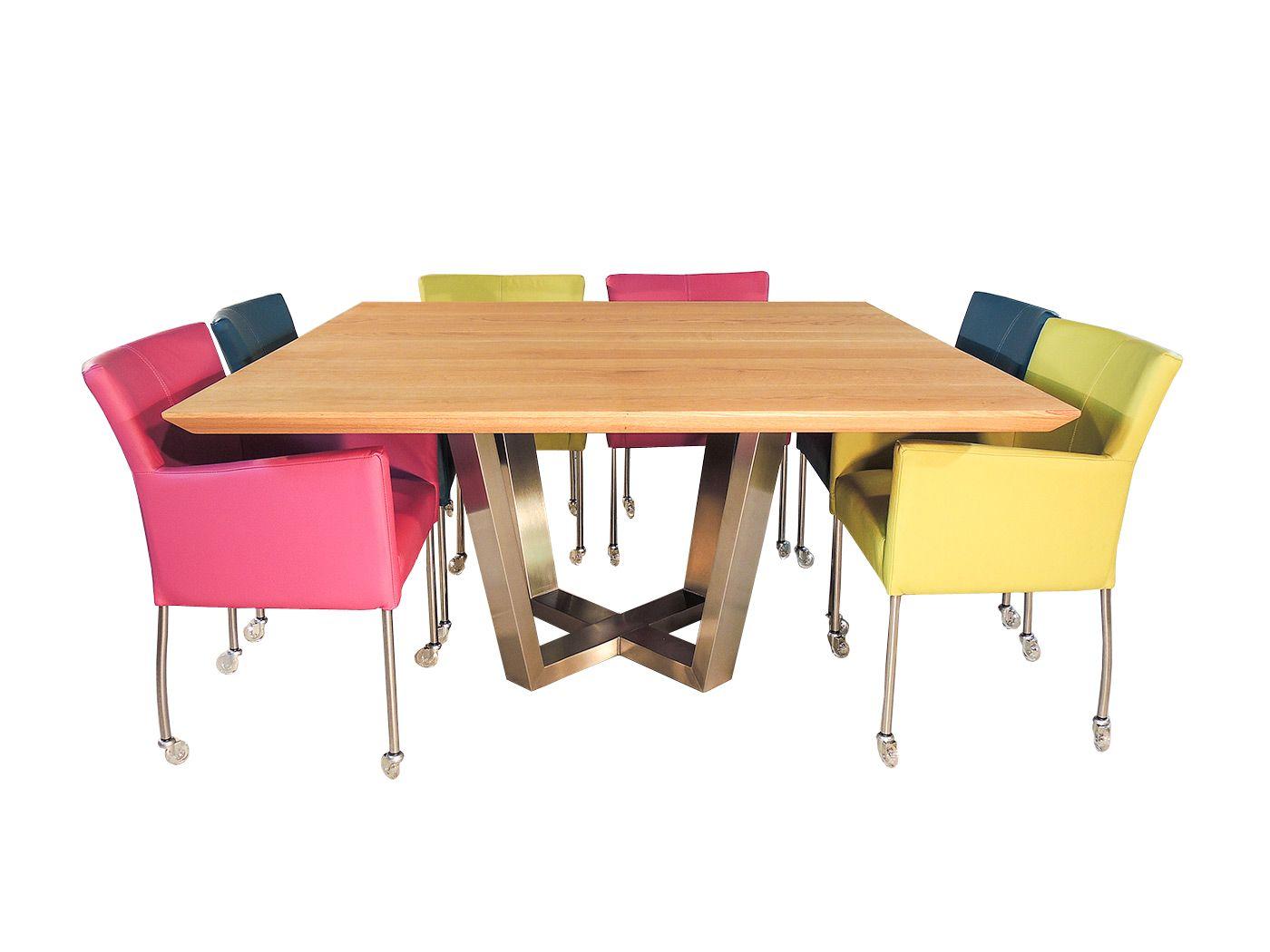 Vierkante Eettafel 12 Personen.Hampton Moderne Vierkante Tafel Vierkante Eettafel