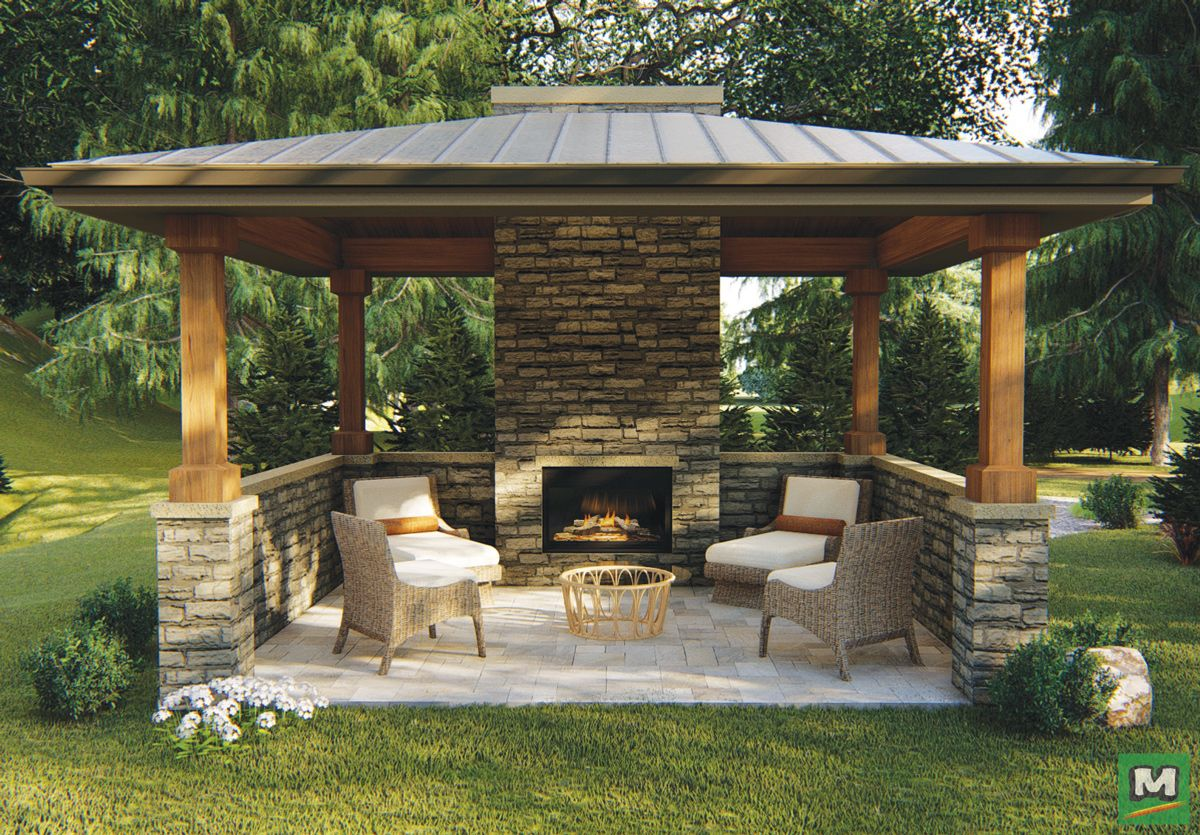 The Woodgrinn gazebo will add a secluded outdoor ... on Garden Entertainment Area Ideas id=28194