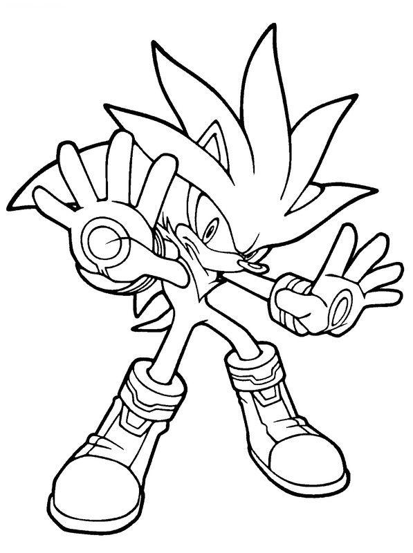 Ausmalbilder Sonic ist Bereit 01 | ausmalbilder | Pinterest