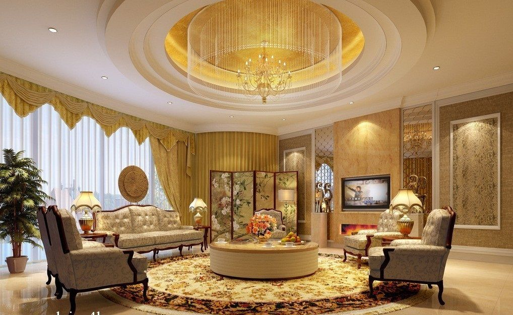 Luxury Pop Ceiling For Living Room With High Ceiling And TV | Dream Living  Room | Pinterest | Ceilings, Room Interior Design And Room Interior Part 87