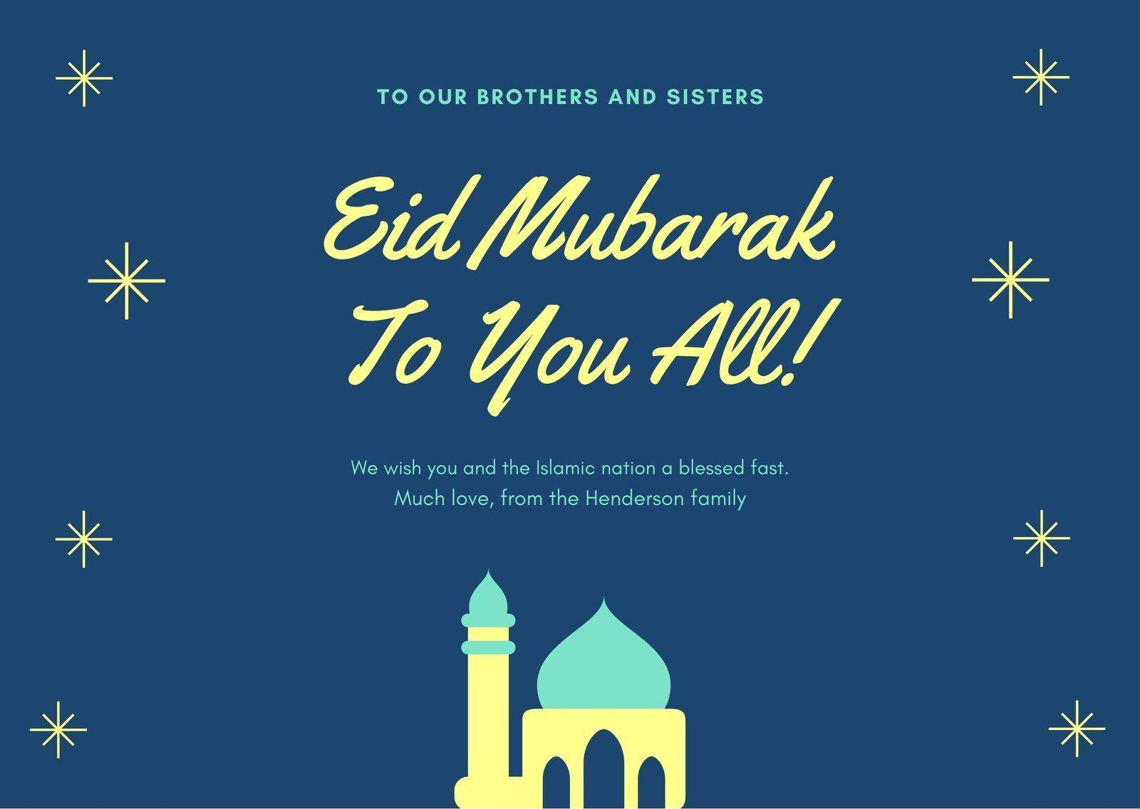 Blue Mosque Illustration Eid Al Fitr Card Templates By Canva Ad Illustration Paid Eid Blue Mosque Happy Eid Mubarak Wishes Eid Mubarak Wishes Eid