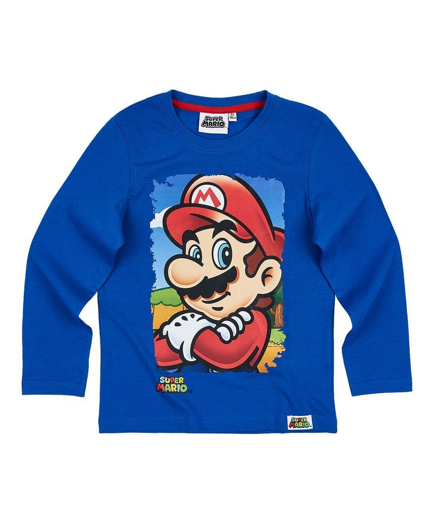 Boys Kids Official Licensed Super Mario Kart Long Sleeve T Shirt Top
