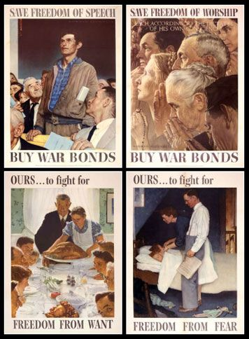 Norman+Rockwell+Four+Freedoms+Paintings | wartime America shows ...