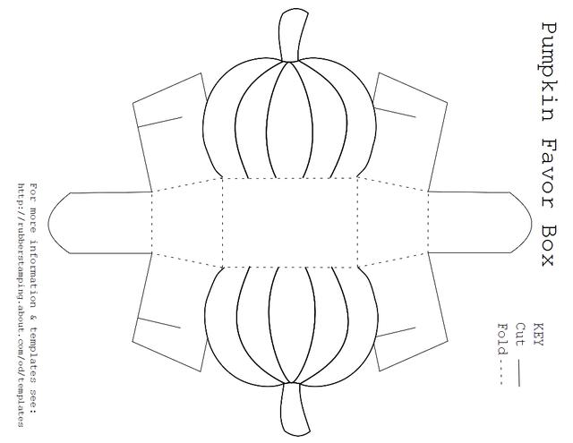 Free Printable Pumpkin Favor Box Template | Box templates, Favor ...
