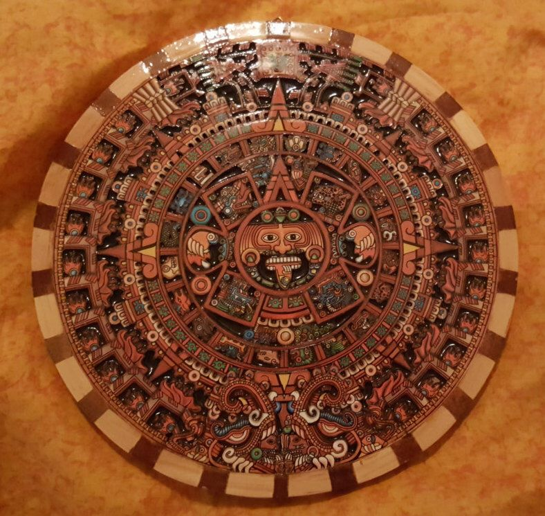 Pin By Dania Schwerert On Mayan Aztec Calendar Carved Wood Wall