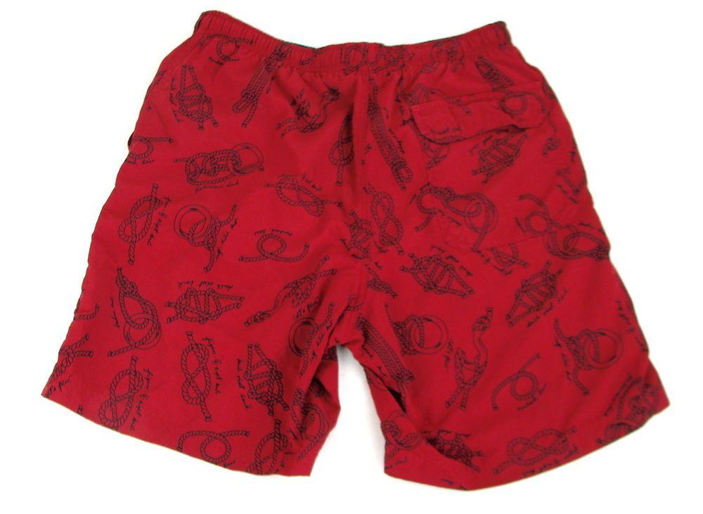 d84a5faa61 Mens LL Bean Nautical Knots Sailing Swim Trunks Bathing Suit Shorts Lined  Small #LLBean #Trunks