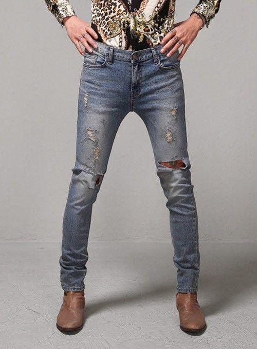 Vintage Destroyed Super Skinny Jeans $50.40 #fashion #style ...