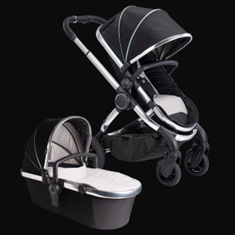 Icandy Peach Stroller With Chrome Frame Beluga Black Icandy Peach Icandy Stroller