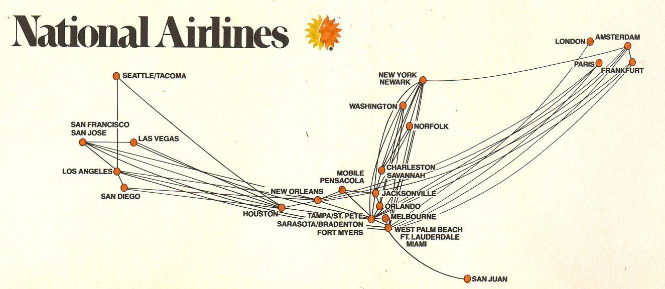 National Airlines route map 79 | Airline Route Maps | National ...