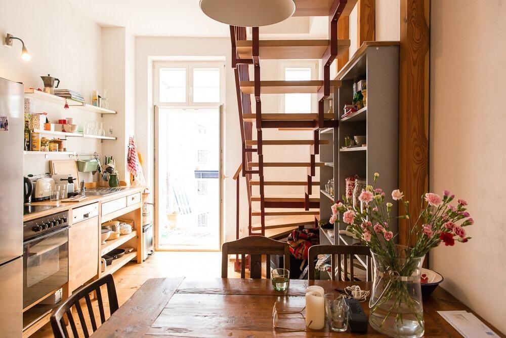 Essbereich mit Blick in die Küche #Esszimmer #Küche #Einrichtung