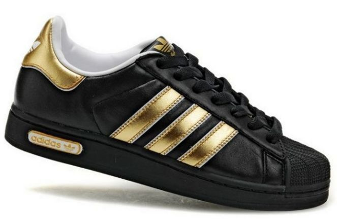 Adidas Sneakers Dames Zwart Goud | Black adidas shoes ...