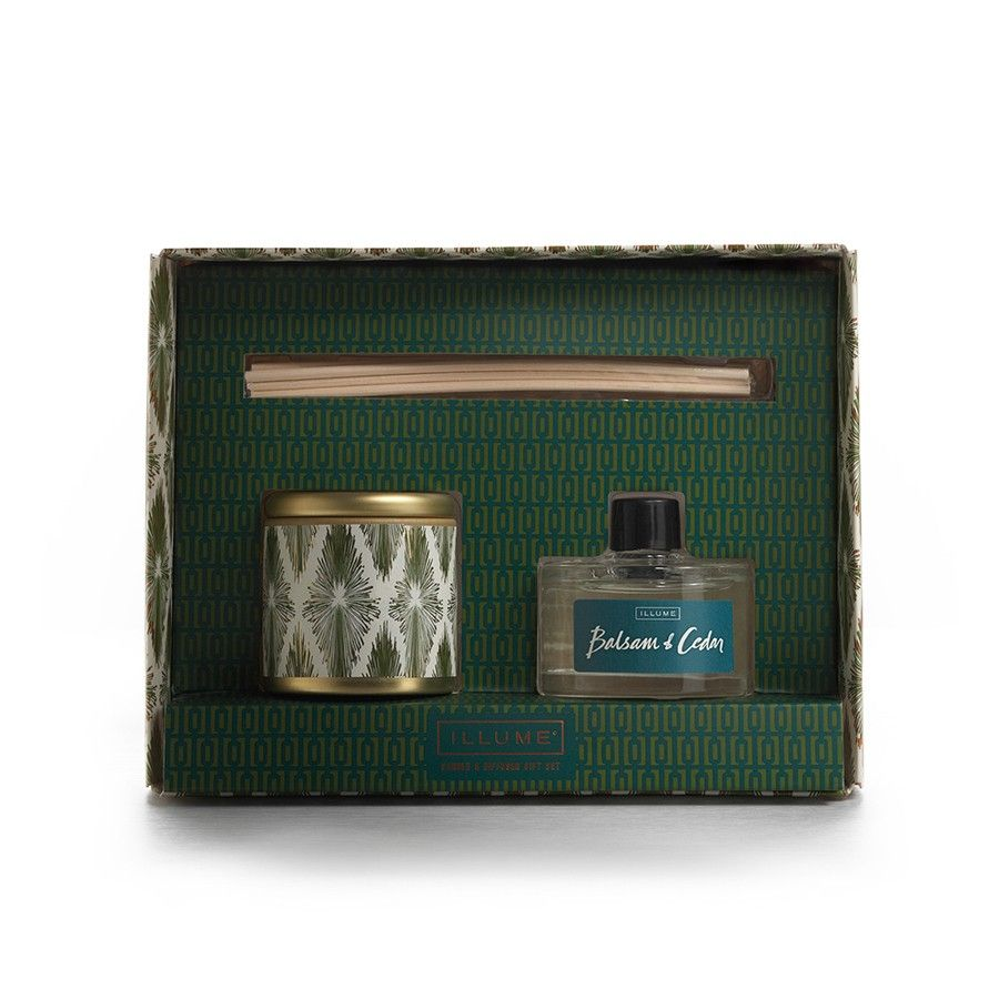 Illume Balsam & Cedar Candle and Diffuser Gift Set, $21.25 #birchbox