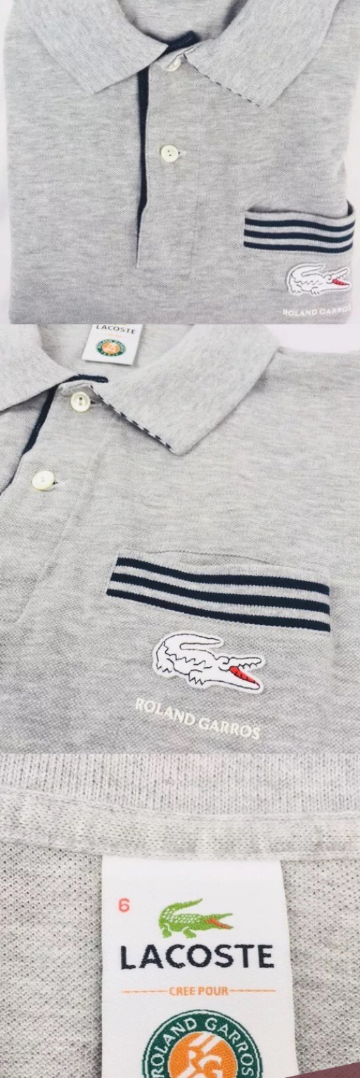 Limited edition French open tennis Lacoste polo L Brand