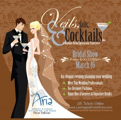 Join the Las Vegas Chapter at Veils, Tails & Cocktails—a boutique wedding planning experience at the ARIA Resort & Casino. A portion of proceeds from online ticket sales will be donated to Wish Upon a Wedding! http://www.bridalspectacular.com/Bridal_Show_at_the_Aria_Veils_Tails__Cocktails.aspx