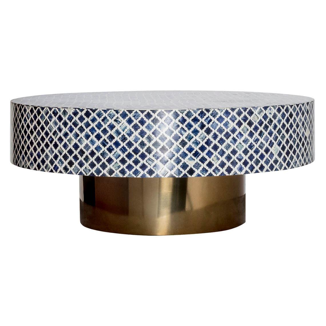 Fira Coffee Table Blue Brass Colour Blue Coffee Tables Tiled Coffee Table Freedom Coffee Table [ 1140 x 1140 Pixel ]