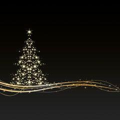 Weihnachten Hintergrund Baum Sterne Schwarz Gold Royalty Free Images Xmas Wallpaper Christmas Wallpaper