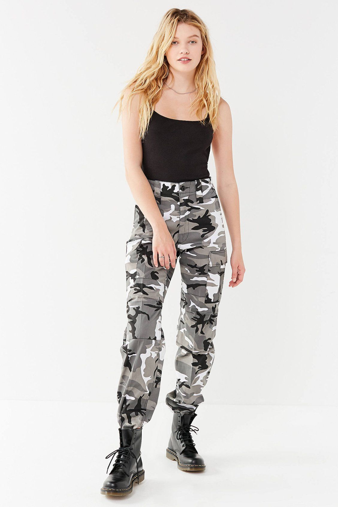 Vintage Black + White Camo Pant | Black women fashion ...