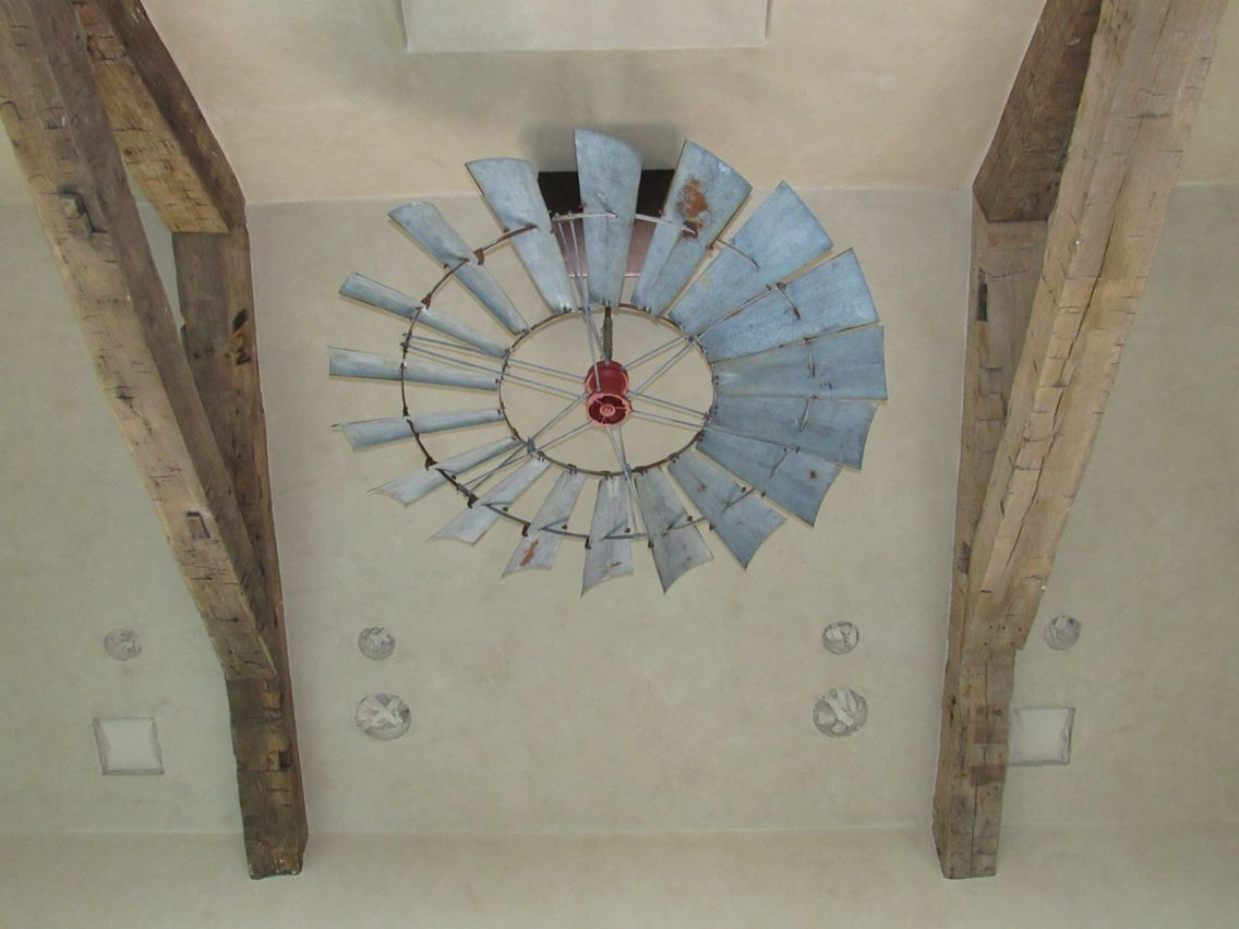 From Wcftx Our 6 Reproduction Vintage Windmill Ceiling