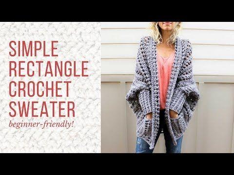 Sueter En Rectàngulo Tejido A Crochet Youtube Pletenje