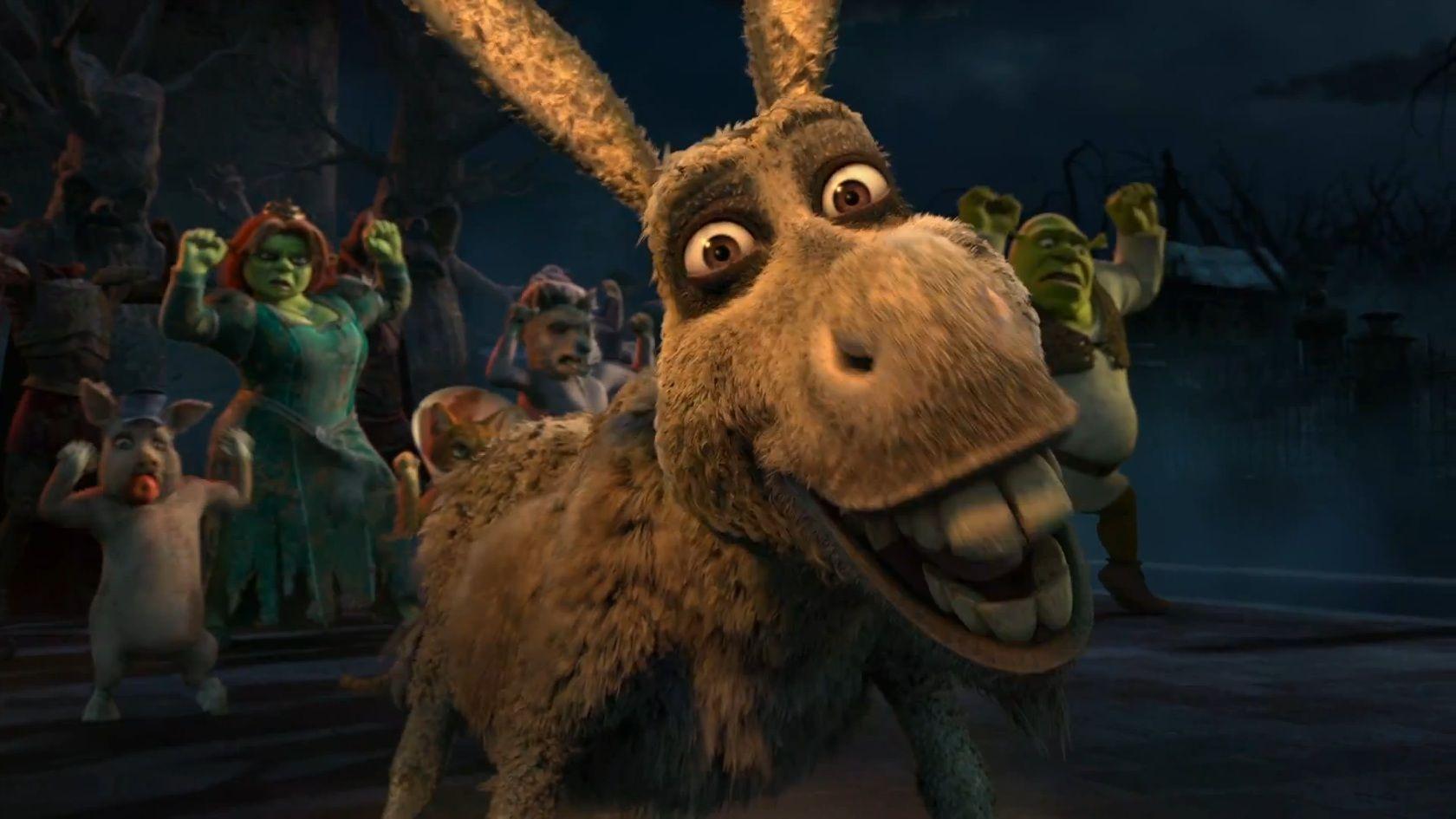 Scared Shrekless Thriller Night Zombie Donkey Jpg Zombie Cartoon Zombie Thriller