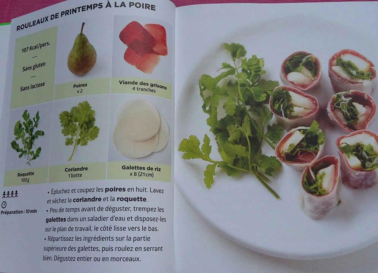 Rouleaux de printemps la poire simplissime light for La cuisine simplissime light