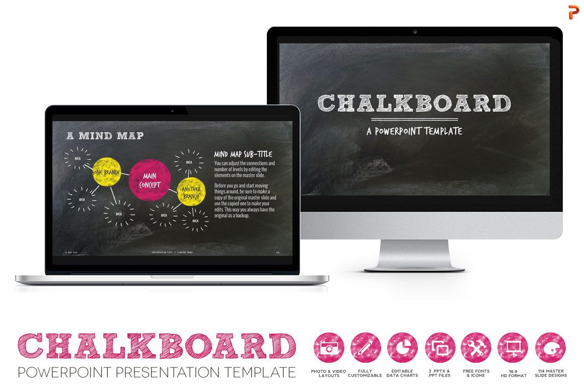 Chalkboard ppt presentation template by blixa 6 studios on social studies chalkboard ppt presentation template by blixa 6 studios on creativemarket toneelgroepblik Images