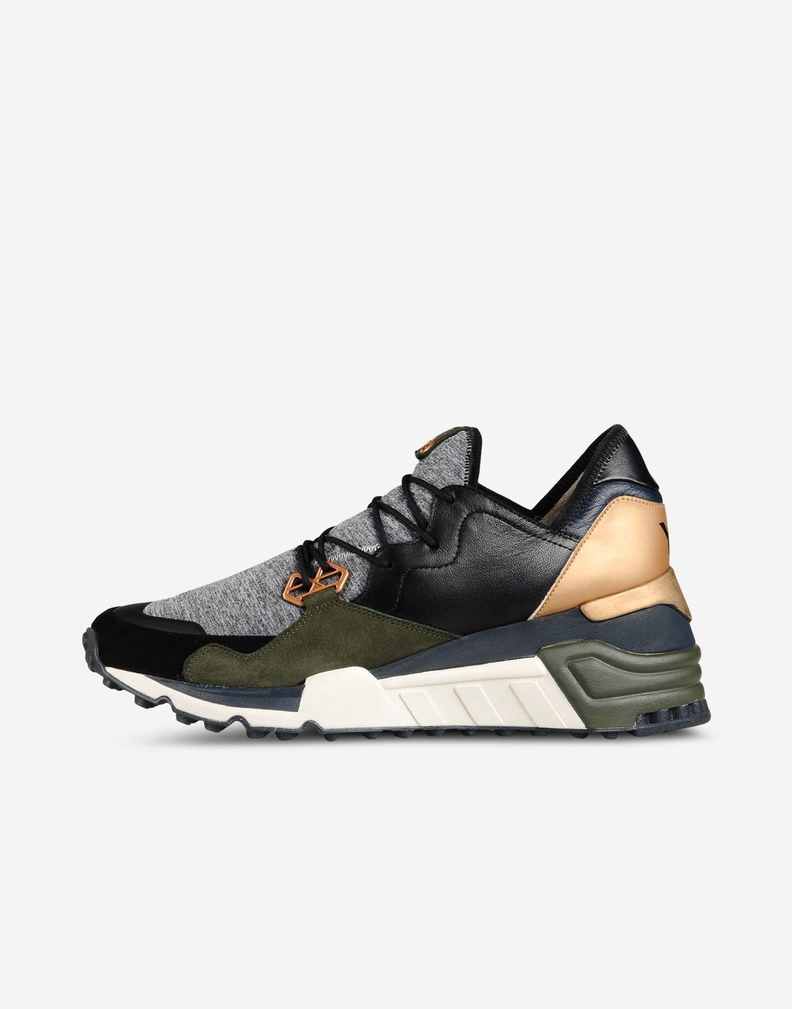c6ee52cf9cc86 Y-3 wedge sock run sneakers. Love this colorway of  olive navy copper black grey.